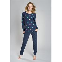 If piżama damska alla długi rękaw granatowy, Italian fashion