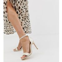 wide fit bridal stiletto barely there square toe heeled sandals - copper marki Truffle collection