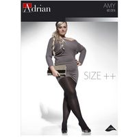 Rajstopy Adrian Amy Size++ 60 den 5 5, różowy/amarantowy. Adrian, 5