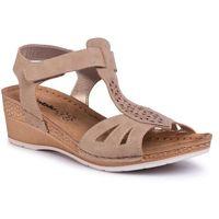 Sandały INBLU - EPABOO01 Beige, w 6 rozmiarach