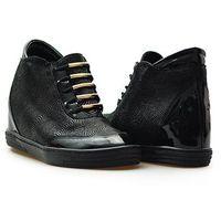 Sneakersy Veronna 1008 Czarny lico+ lakier