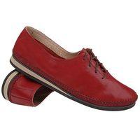 Simen Mokasyny sznurowane buty 6870 bordowe - czerwony ||bordowy