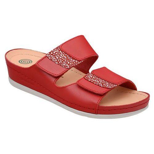 Buty klapki Dr Brinkmann 701040-4 Czerwone - Czerwony (4053519774456)