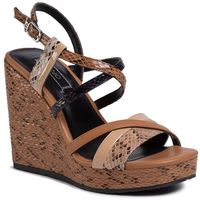 Sandały - lucy 16 wedge sandal sa0065 ex005 desert 30607 marki Liu jo