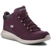 Sneakersy - just chill 12918/burg burgundy, Skechers