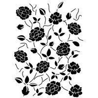 Szablon z tworzywa flora 264 - rose garden (wzór powtarzalny) marki Szabloneria