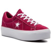 Sneakersy - one star platform ox 563488c rhubarb/white/white, Converse, 36-41