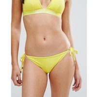 Calvin Klein Cheeky String Tie Side Bikini Bottom - Yellow, w 2 rozmiarach