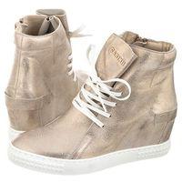 Sneakersy Carinii Złote B3519 (CI182-e), B3519-F76-000-PSK-B88