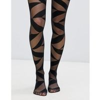 Pretty Polly Geo Sheer Tights - Black, kolor czarny