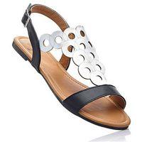 Sandały bonprix czarno-srebrny
