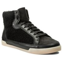 Sneakersy CLARKS - Hidi Haze 261285524 Black Combi Leather, kolor czarny