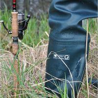 Spodniobuty z prawdziwej gumy elastyczne FISHING ART:11 47 Czarne, 1 rozmiar