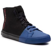 Sneakersy jeans - iridea r7778 black/nautical blue marki Calvin klein