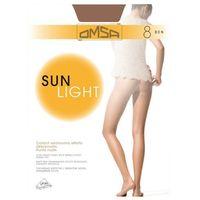 OMSA Sun Light 8 Rajstopy • Rozmiar: 3/M • Kolor: SIERRA, Rajstopy Sun Light 8 3/M Sierra