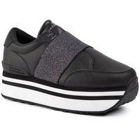 Sneakersy - elastic slip on fatform sneaker fw0fw04603 black blk marki Tommy hilfiger