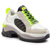 Bronx Sneakersy - 66266a-ac bx 1586 white/neon yellow/black 3045