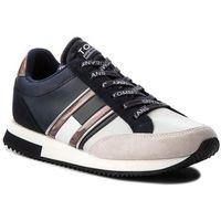 Sneakersy TOMMY JEANS - Casual Retro Sneaker EN0EN00317 Midnight/Ice 909, kolor szary