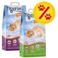 Zestaw mieszany nuggies i nuggies fresh, żwirek drobnoziarnisty, 2 x 14 l - 2 x 14 l marki Tigerino