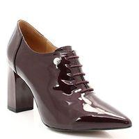 9-23301-29 bordo - eleganckie sznurowane botki - bordowy, Caprice