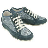 11594 00 scamosciato/pizzo jeans, półbuty (sneakersy) damskie - niebieski marki Igi&co