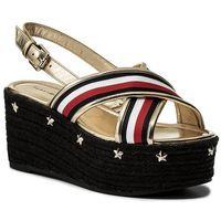 Tommy hilfiger Espadryle - corporate ribbon flatform sandal fw0fw02527 rwb 020