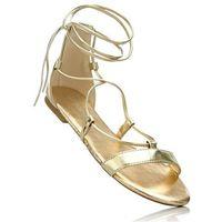 Sandały bonprix złocisty, kolor żółty