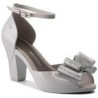 Sandały - diva bow sandal fem 82442 szary/srebrny 50802 aa285083 02064 marki Zaxy