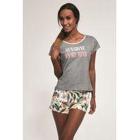 Bawełniana piżama damska Cornette 366/164 Sunshine szara, 366/164 Sunshine