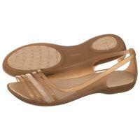 Crocs Sandały isabella huarache flat w bronze 202463-854 (cr99-e)