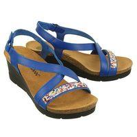 DR BRINKMANN 710806-5 blau, sandały profilaktyczne damskie - Granatowy, kolor niebieski