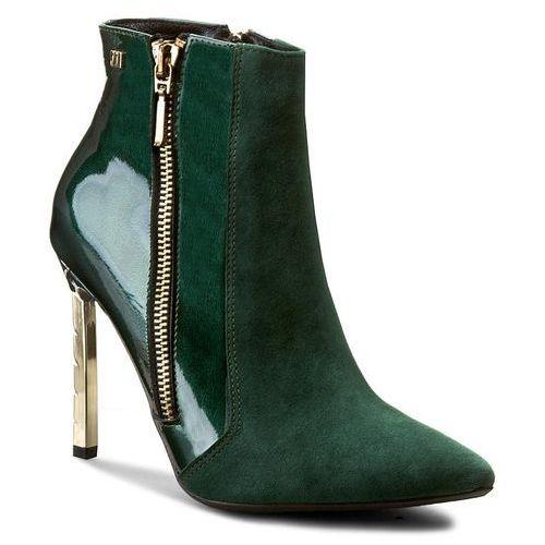 Botki MACCIONI - 436 Zielony, kolor zielony