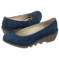 Czółenka FLY London Pump Cupido/Mousse Blue P500424079 (FL116-c), kolor niebieski