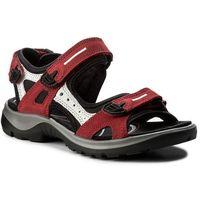 Sandały - offroad 06956355287 chili red/concrete/black, Ecco, 35-37