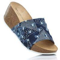 Klapki niebieski dżins marki Bonprix