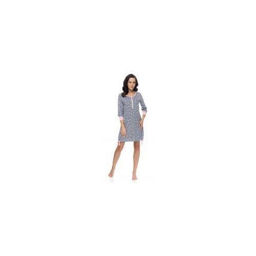 Koszula nocna ciążowa i do karmienia DN - Dark Grey-P, kolor szary