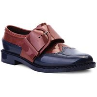 Półbuty - classic brogue special 32394 blue/dark red 53334, Melissa