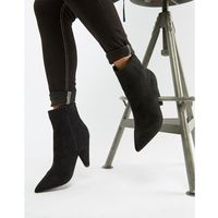 black pointed ankle boots with cone heel - black marki Glamorous