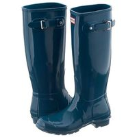 Kalosze Hunter Womens Original Tall Gloss Dusty Petrol WFT1000RGL (HU17-b)