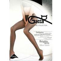 Rajstopy brigitte 02 rete lurex 3/4-m/l, czarno-srebrny/nero-silver, gatta marki Gatta