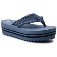 Japonki TOMMY JEANS - Denim Mid Beach Sandal EN0EN00594 Denim 404