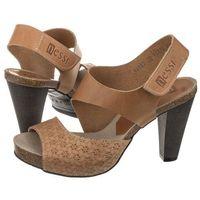 Sandały Nessi Brązowe 42103 11 + Plecionka (NE76-a), kolor brązowy