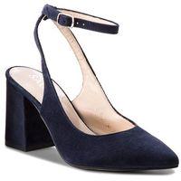 Sandały SAGAN - 3185 Granatowy Welur