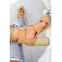 Damskie sandały MELISA CAMEL, 36-40
