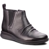 Botki - un adorn mid 261368474 black leather marki Clarks