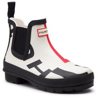 Kalosze HUNTER - Original Chelsea Exploded Logo WFS1043ELP Exploded Logo, kolor biały