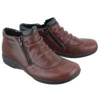 RIEKER L3691-35 red, botki damskie, kolor czerwony