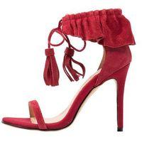 Lavish Alice RUFFLE STILETTO Sandały na obcasie red, kolor czerwony