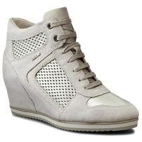 Sneakersy GEOX - D Illusion B D7254B 022BV C0451 Off Wht/Platinum, w 3 rozmiarach