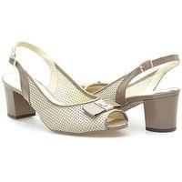 Sandały Arka BI3330/258+268 Beżowe, kolor beżowy